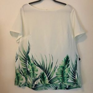 3/$12    Crepe Palm Leaf Blouse